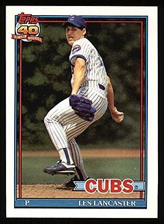 Amazoncom 1991 Topps 86 Les Lancaster Chicago Cubs