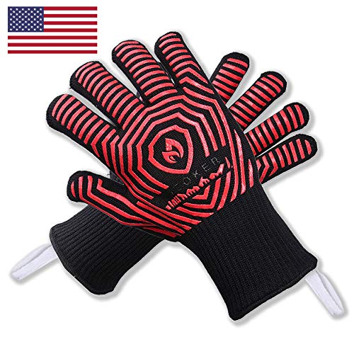 Extreme Durable Heat Resistant Oven Mitts - Hot Surface Handler - USA Made - FDA Approved - Improved Oven Mitt/Grilling Glove Perfect for Kitchen,Cooking, BBQ, Welding| 1112 Degree Resistance-1 Pair