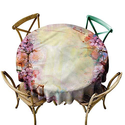 Bavarian Finish Cherry - familytaste Flower,Tablecloths for Circular TableAsian Cherry Blossoms Love D 60