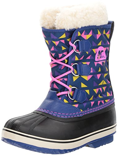 Sorel Girls' Yoot Pac Nylon, Aviation, Foxglove, 5 M US Big Kid (Winter Pac Boots Yoot)