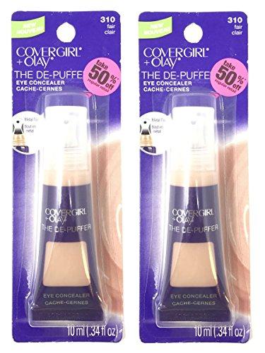 Set of 2 CoverGirl + Olay 0.34 oz The De-Puffer 310 Fair Eye Concealer Tube by COVERGIRL