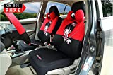 18pcs Cute women cartoon car seat cover universal car-covers breathable fabric