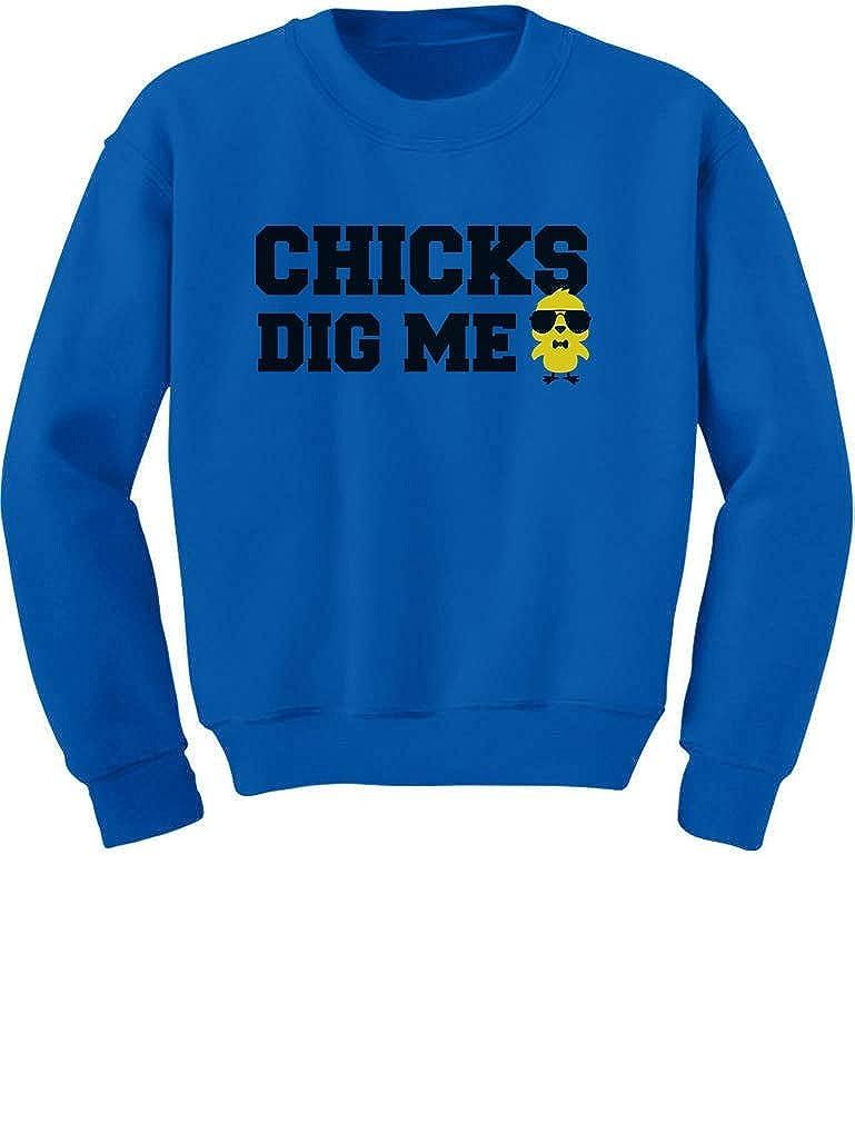Chicks Dig me Funny Boys Easter Toddler//Kids Sweatshirt Tstars