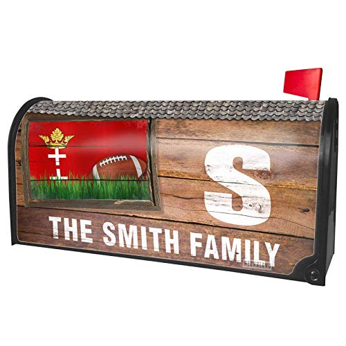 NEONBLOND Custom Mailbox Cover Football with Flag Danzig (Free City of Danzig) -