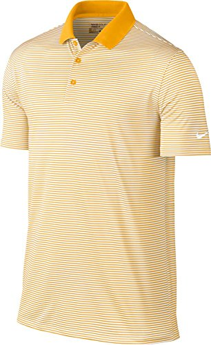 NIKE Golf Victory Mini Stripe Polo (University Gold/White) (X-Large)