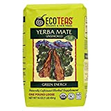 ECOTEAS Organic Yerba Mate - Pure Leaf 1 Pound (Pack of 6)