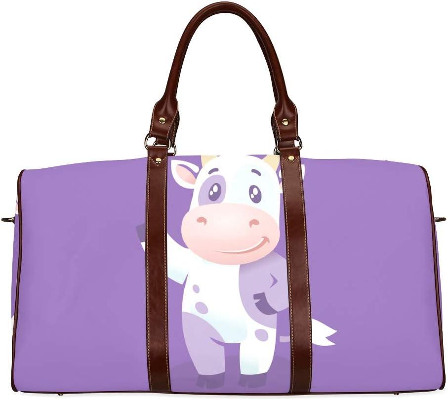 Party Handbags Happy Little Milk Cow Farm Animal Waterproof Microfiber Leather Carryon Bag Tote Bag For Women Woman S Bag Party Handbags Woman Carry On Bag