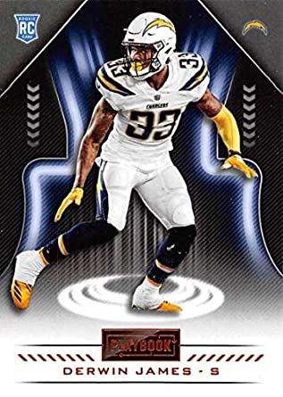 2018 Playbook Football Orange Parallel  149 Derwin James Los Angeles  Chargers RC Official NFL Rookie 2cbd31d2e