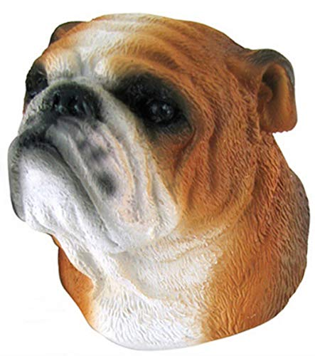 Bulldog,Souvenir Dog Head Resin 3D Fridge Magnet ()