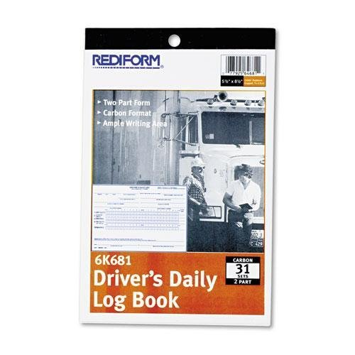 Rediform 6K681 Driver's Daily Log 5 1/2 x 7 7/8 Duplicate with Carbons 31 Sets/Book