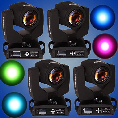 Ridgeyard 4 pcs Touch Screen 7R 230w Zoom Beam Moving Head Light 16CH / 20CH 14 Color DMX512 DJ Bar Party Stage Beam Light