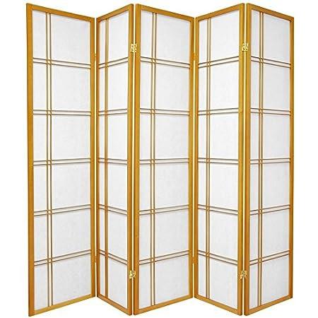 4 Panel White 6-Feet Double Cross Folding Shoji Privacy Floor Screen Oriental Furniture Premium Quality