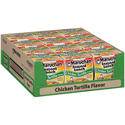 Maruchan Instant Lunch Chicken Tortilla, 2.25 Oz, Pack of 12