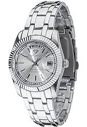 Yves Camani Men's Quartz Watch Yaards silver YC1024-E with Metal Strap