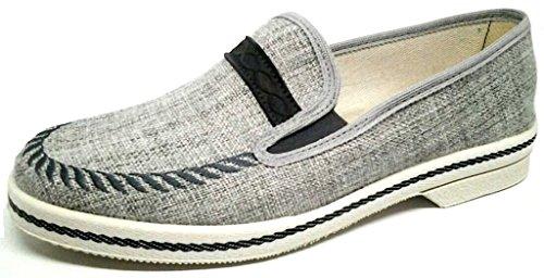 DAVEMA - Zapatillas de estar por casa para hombre gris gris