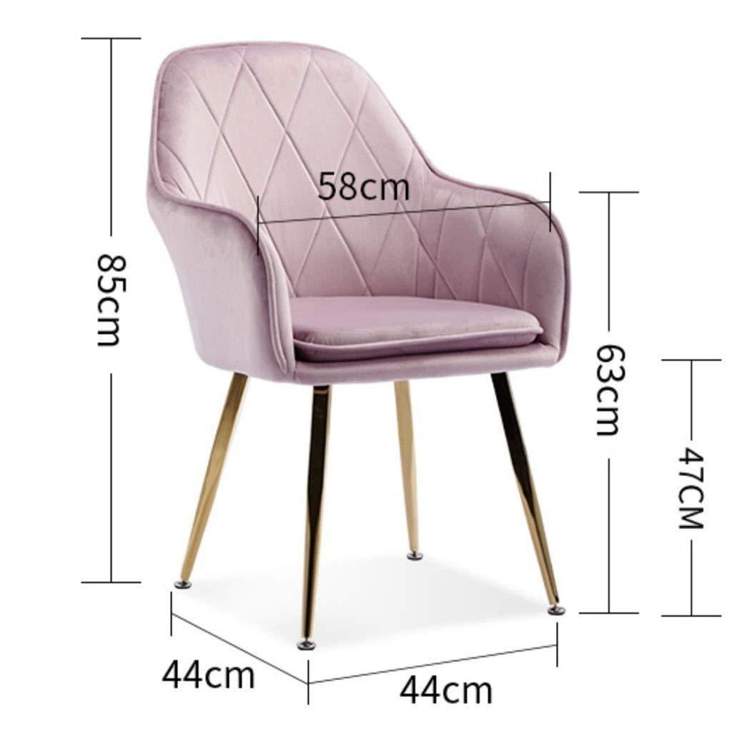 HEJINXL matrumsstol set med 6 set kök sammet oberoende dyna halkfria fötter kan tryckta mottagningsstolar med ryggstöd och vadderad sits vridning (färg: B) a