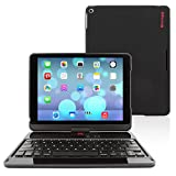 iPad Air 360° Rotatable Keyboard Case, Snugg™ – Ultra Slim Keyboard Case with Bluetooth Connectivity & Lifetime Guarantee (Black) For Apple iPad Air