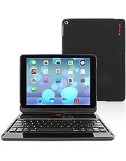 "iPad Air and New iPad 2017 9.7"" Keyboard, Snugg [Black] Wireless Bluetooth Keyboard Case Cover 360° degree Rotatable Keyboard for Apple iPad Air and New iPad 2017 9.7"""