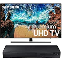 "Samsung 49NU8000 Flat 49"" 4K UHD 8 Series Smart TV 2018 Bundle with BD-J5700 Curved Blu-ray Player"