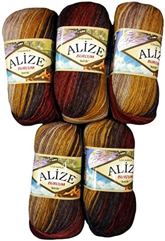 1893 Stricken Farbverlauf Alize 3 x 100 g Burcum Batik PREMIUM Wolle 100/% Acryl