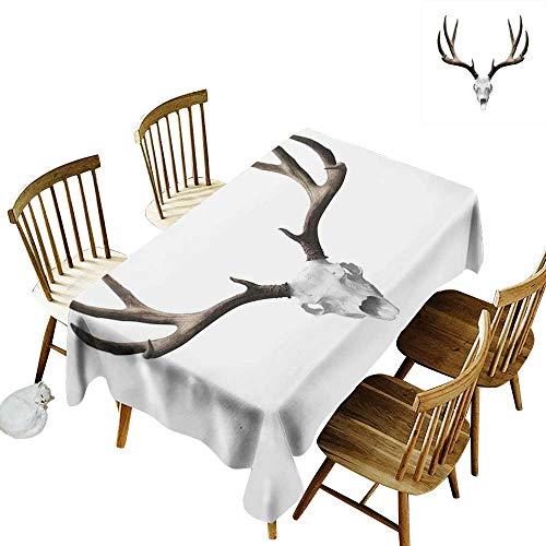kangkaishi Antlers Decor Iron-Free, Anti-fouling Holiday Long Tablecloth