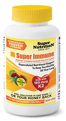 SuperNutrition Super Immune Multi Iron-Free Multivitamins, 120 Count