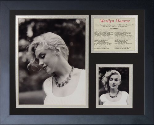 Legends Never Die Marilyn Monroe Necklace Black and White Framed Photo Collage, 11x14-Inch - Marilyn Monroe Photographs