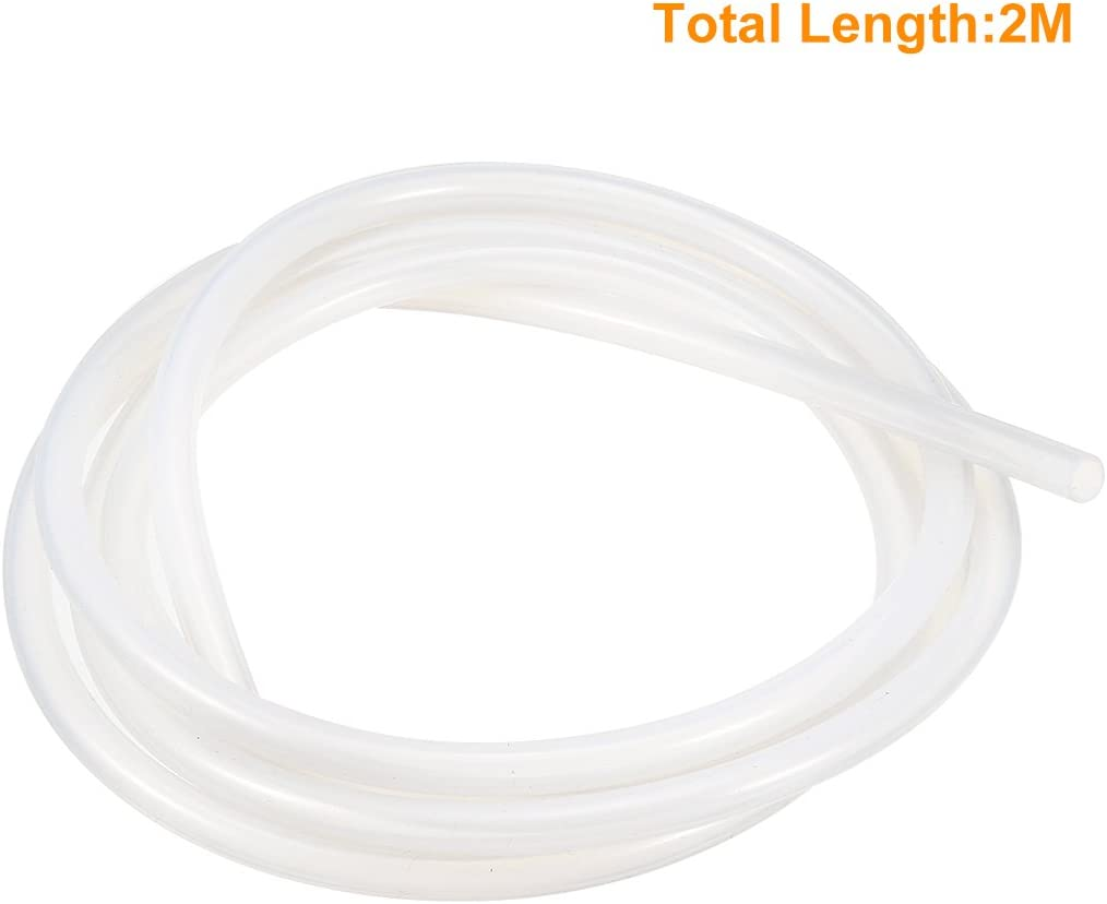 sourcingmap/® Bomba de aire Agua 10mm x 12mm de silicona transl/úcida Tubo manguera del 2Metro 6.5 pies largo