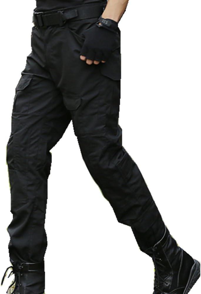 SGOYH Multibolsillo Duty Pants Paintball Shooting Pantalones t/ácticos BDU Pantalones Airsoft con Rodilleras