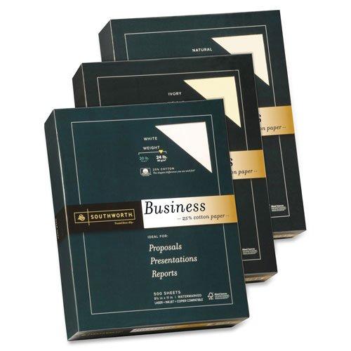 o Southworth Company o - Fine Business Paper, 24 lb., 8-1/2''x11'', 500/RM, Natural