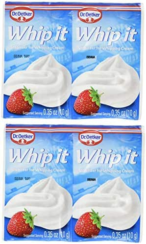 Dr. Oetker Whip It, Stabilizer for Whipping Cream, 0.35oz Packets (4 Pack)