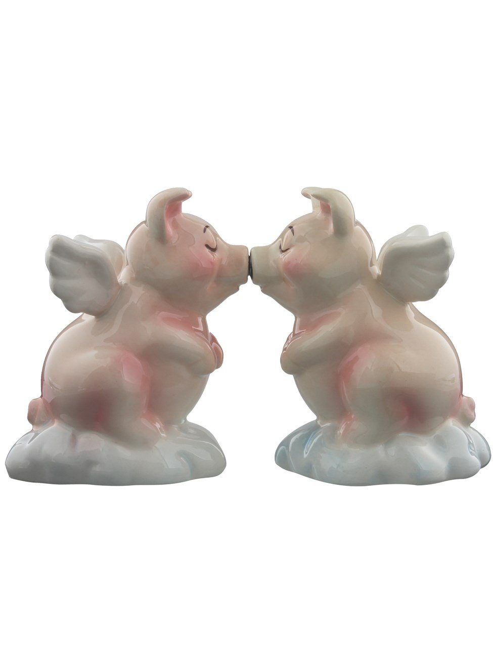 1 X When Pigs Fly Hog Heaven Magnetic Salt & Pepper Shaker Set S/P