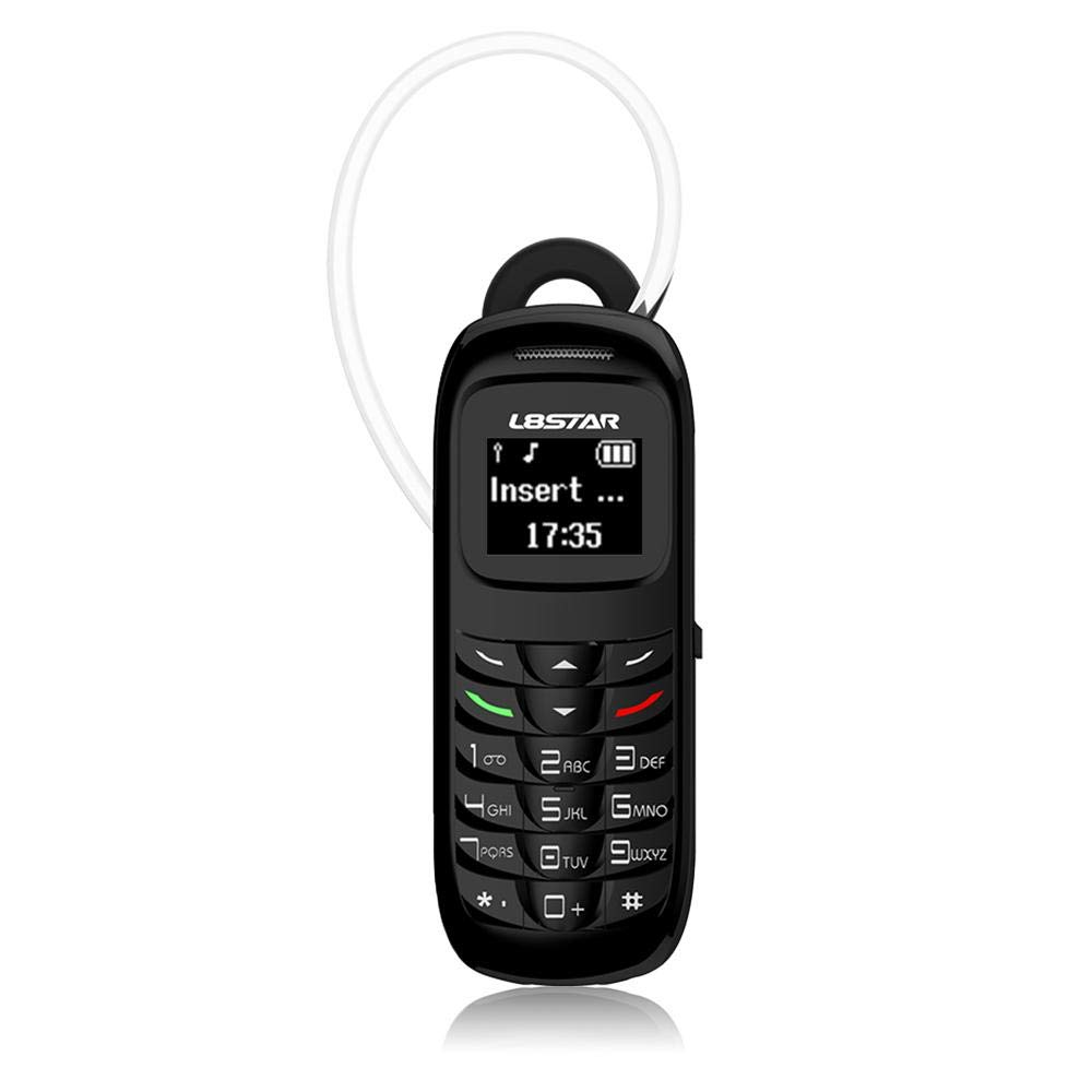 L8Star BM70 Mini Phone, Tiny Phone & Blueteeth Dialer Headset Earphone Stereo Support SIM Card 0.66 Inch OLED Display 300mAh 120hr Standby Time Voices Changer Effects for Women and Men