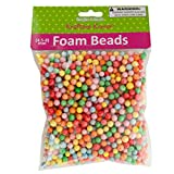 Large Multi-Colored Foam Craft Beads - 18/Pack (6 Pack)
