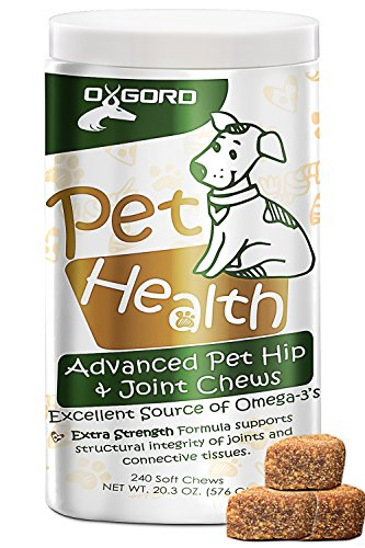 oxgord-240ct-glucosamine-for-dog-cat-hip-joint-supplement-advanced-level-2-formula-all-natural-soft-