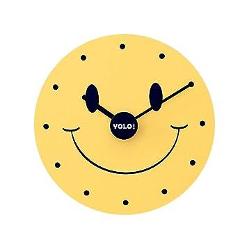 Fengfeng Reloj de Pared Creativo Relojes de Pared sonrientes de Dibujos Animados Habitación de los niños