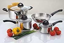 Culinary Edge 04427 7-Piece Stainless Steel Cookware Set