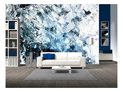 wall26 - Abstract Acrylic Painted Texture Background - Removable Wall Mural | Self-Adhesive Large Wallpaper - 66x96 ()