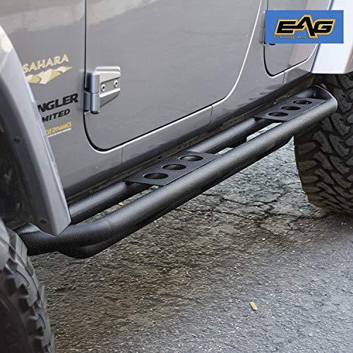 EAG Rock Sliders for 07-18 Jeep Wrangler JK 4 Door Rocker Guard Body ()
