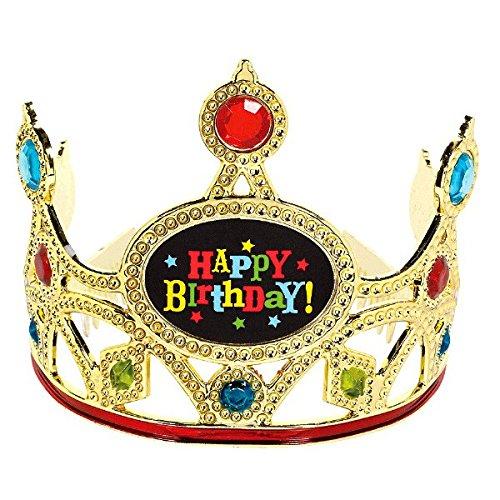 Amscan 396753 Fancy Birthday Brights Crown Tiara Party Accessories, Multicolor, 3 x 4 1/2