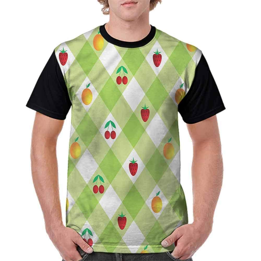 BlountDecor Casual Short Sleeve Graphic Tee Shirts,Fresh Berry Oranges Fashion Personality Customization