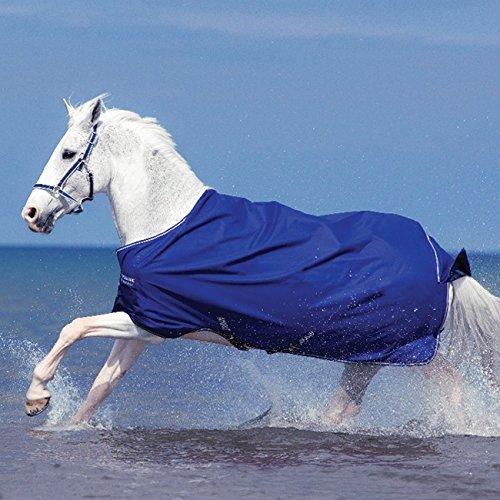 Pferde Regendecke Horseware Amigo Hero 6 Original 130cm ohne Füllung Atlantic Blue with Atlantic Blue & Ivory