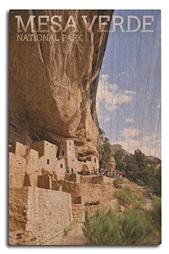 Lantern Press Mesa Verde National Park, Colorado - Cliff Palace Tour Photograph (10x15 Wood Wall Sign, Wall Decor Ready to Hang)