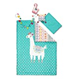 South Shore DreamIt Twin Kids Bedding Set Festive Llama, Turquoise and Pink