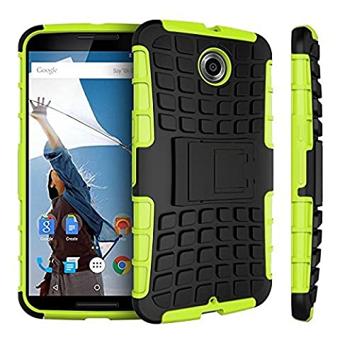 Nexus 6 case,Google Nexus 6 case,[Heavy Duty Armor][shockproof][TPU+Hard case Hybrid]Dual Layer Armor Defender Protective Case Cover with kickstand for Google Nexus 6 (Nexus 6 Case Aluminum)