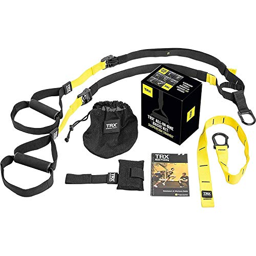 TRX ALLINONE Suspension Training System: Full Body Workouts for your Home Gym Travel and Outdoors | Includes Indoor amp Outdoor Anchors Workout Guide and Video Downloads