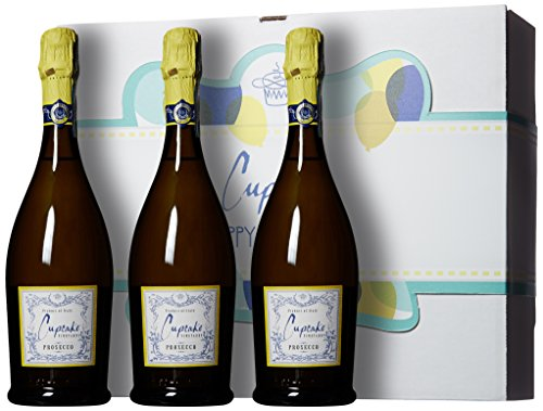 Cupcake Vineyards Happy Birthday Bubbly Wine Gift Box, 3 x 750 mL