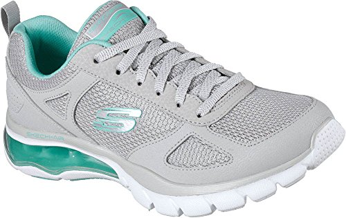 SKECHERS Womens Skech-Air Cloud Gray/Mint Athletic Shoe n 36.5 US 6.5 UK 3.5