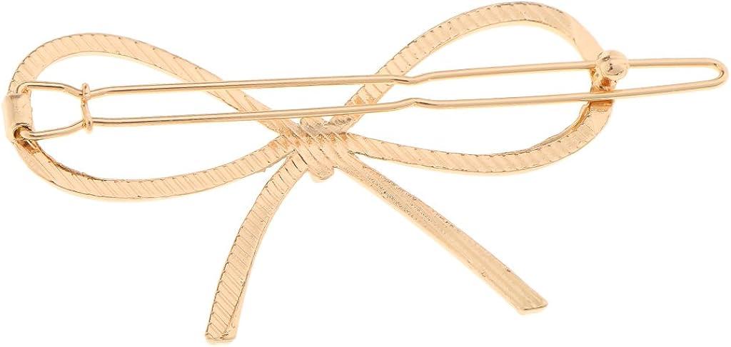 perfk Haarspange Metall Schleife Haarspange Geometrische Haarschmuck Kopfschmuck Haar Zubeh/ör