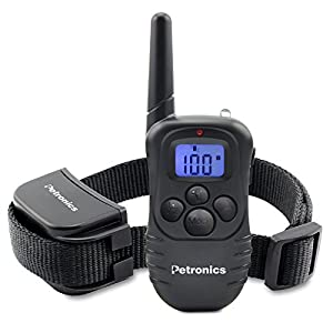 Petronics Rechargeable Shock Training Collar with Remote, Electronic for Large Dog with Static, Vibration, Beep and Light, 330 yd. 44